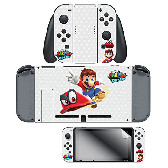 Switch Super Mario Odyssey Skins+ Protector