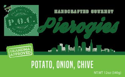 Potato, caramelized onion and chive (vegan)