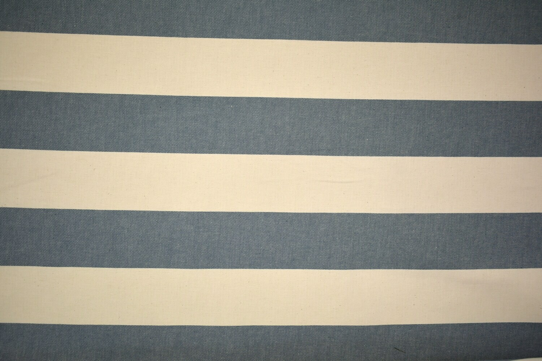 wide Stripe-Blue/Off White