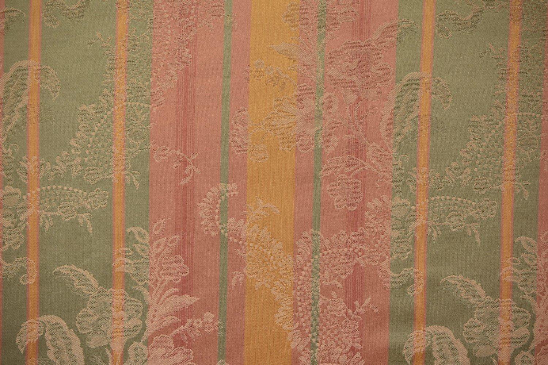 Paisley Stripe-Pink/Yellow/Green