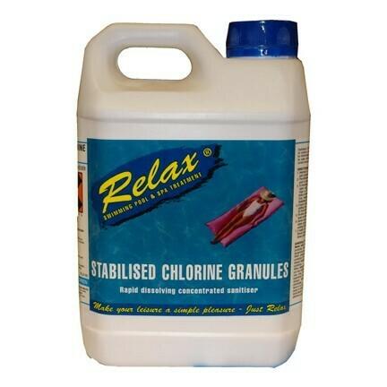 2kg Relax Chlorine granules