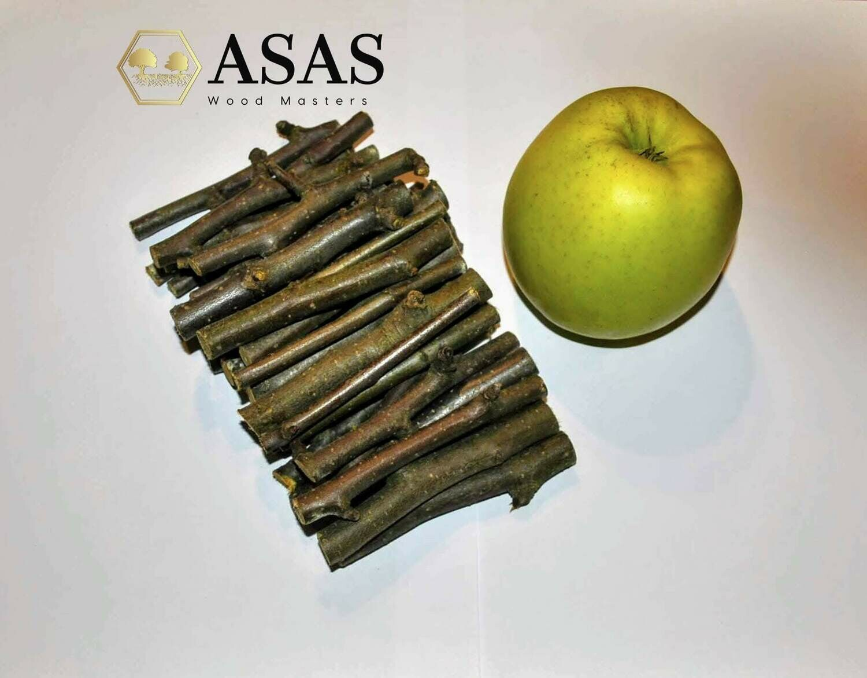 Organic Apple Tree Chew Sticks fo Chinchilla, Rabbit, Guinea pig, hamster, rat | 400 g / 14.11 oz