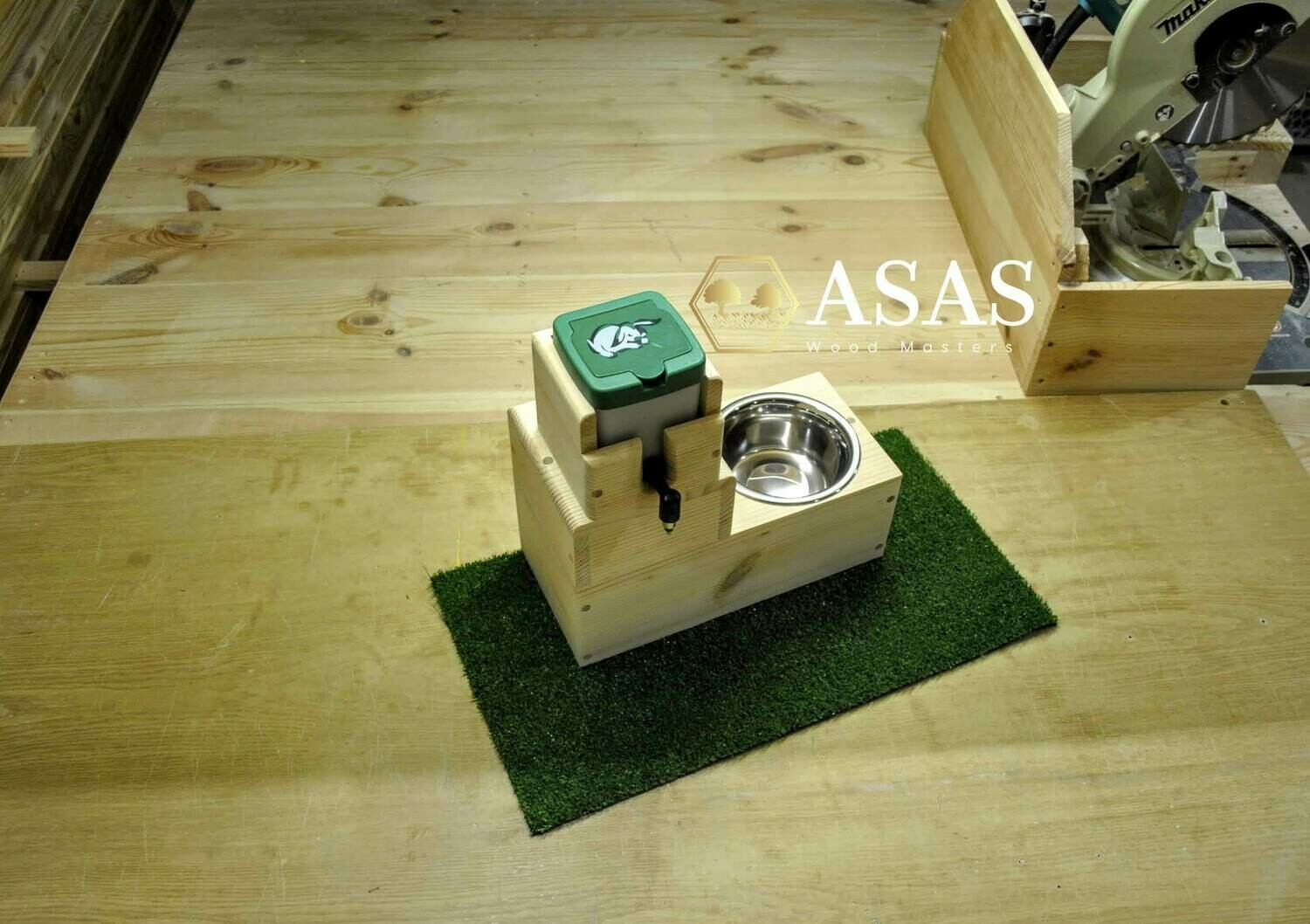 Rabbit, Chinchilla, Guinea Pig, Hamster, Mouse, Rat, Ferret Food bowl and Drinking bottle stand