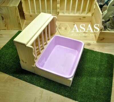 Rabbit Hay Feeder With Litter Box