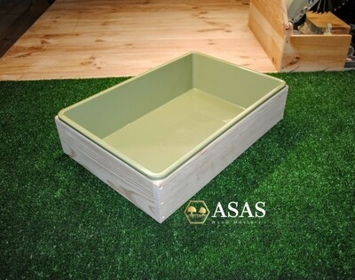 Wooden litter box with plastic tray - Large