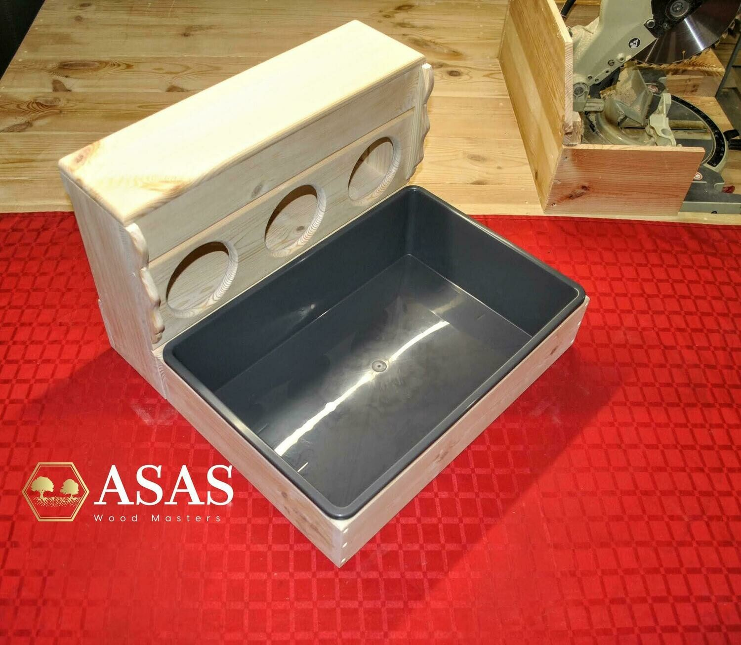 Bunny Rabbit Hay Feeder With Holes and Litter Box / LARGE