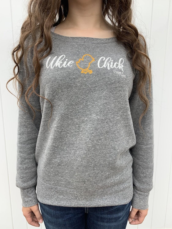 Ukie Chick Ladies Wide Neck Sweatshirt
