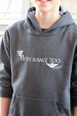 Boys Dance Too Youth Hoodie