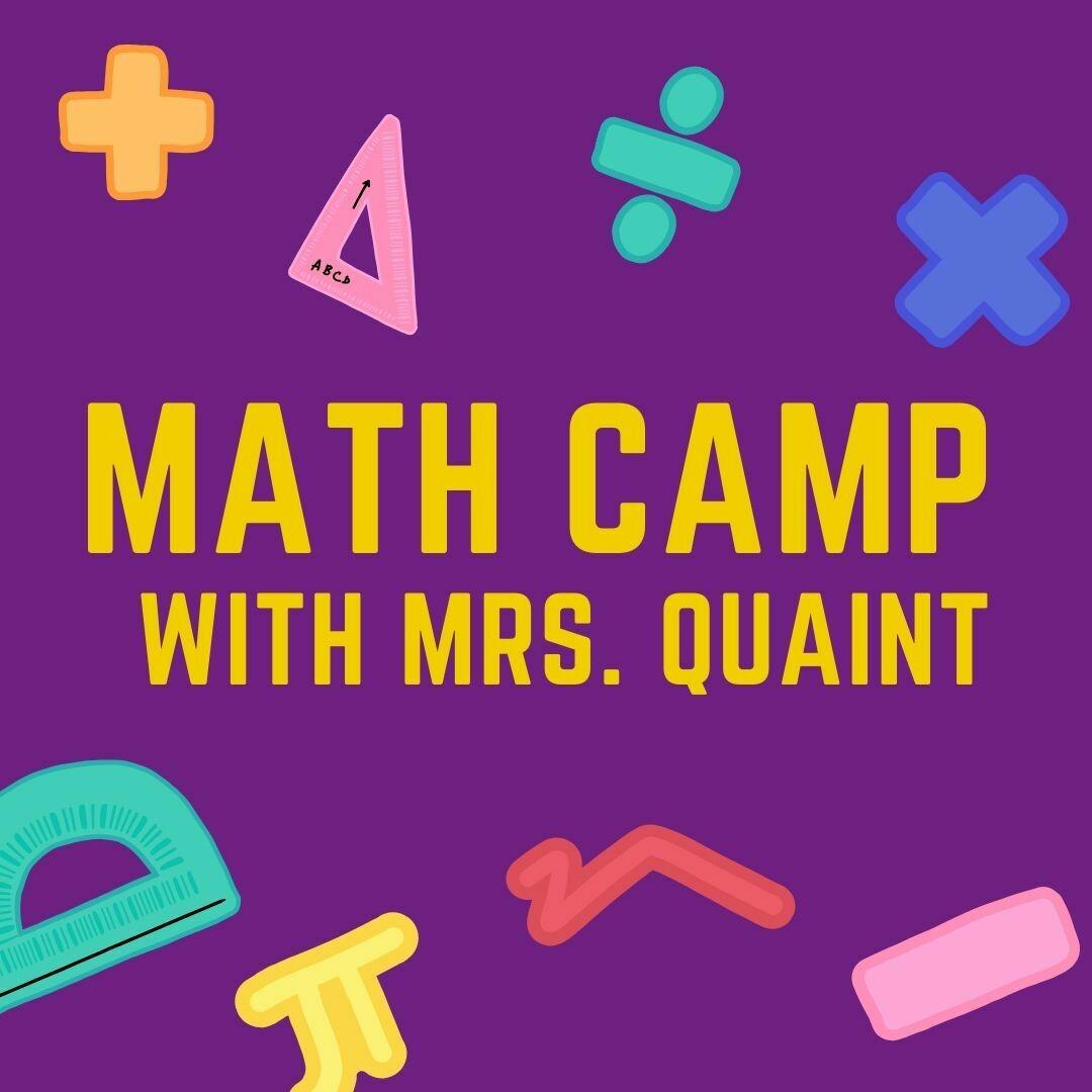 2021 Summer Math with Mrs. Quaint
