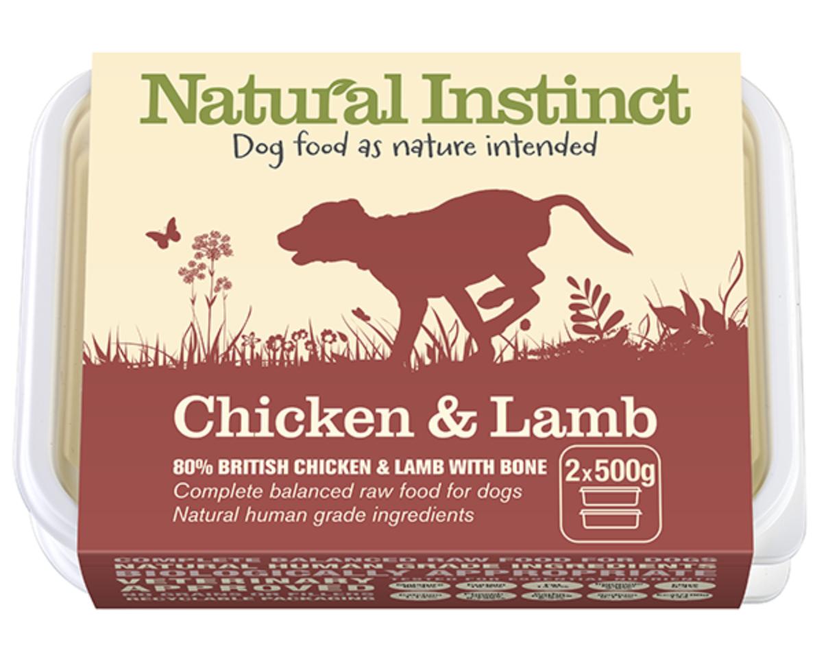 Natural Instinct - Chicken & Lamb (1kg / 2x500g) 00008