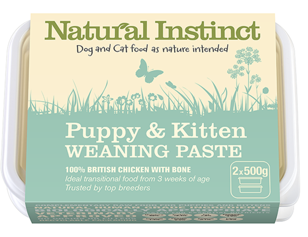 Natural Instinct - Puppy & Kitten Weaning Paste (2x500g) 00010