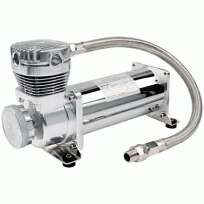 Автомобильный компрессор встроенный стационарный 12v viair 480c хром 48043v