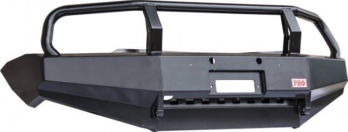 Бампер РИФ силовой передний Mitsubishi L200 2005-2015/Pajero Sport 2009-2015 с защит. дугой и защитой бачка
