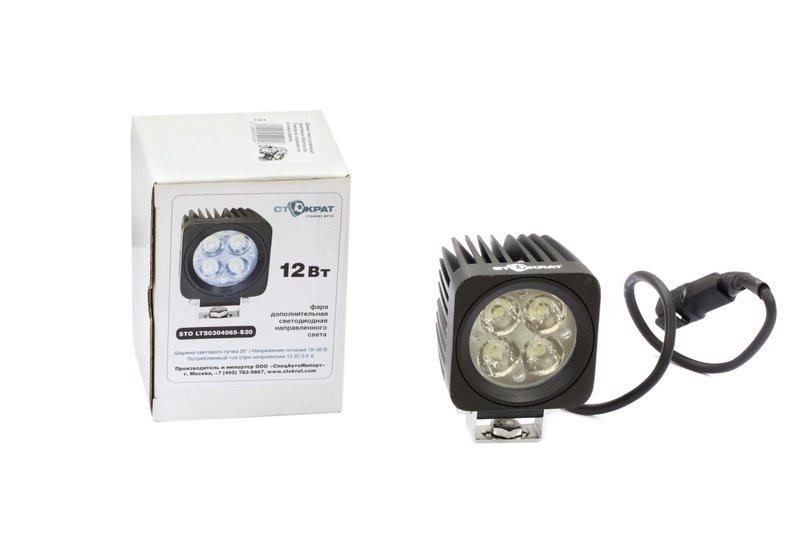 Фара дополнительная светодиодная квадратная направленного света 12 Вт, 20 градусов.