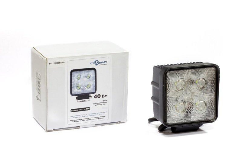 Фара дополнительная светодиодная квадратная рабочего света 40 Вт, 60 градусов.