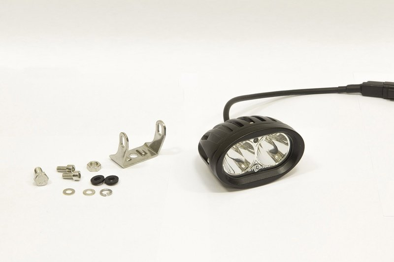 Фара дополнительная светодиодная овальная направленного света 20 Вт, 30 градусов. (СТОКРАТ) 00486