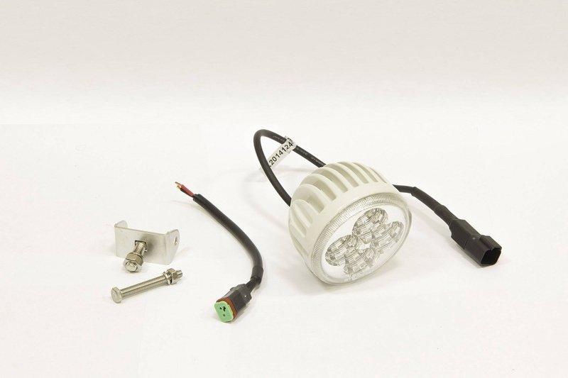 Фара дополнительная светодиодная круглая рабочего света 12 Вт, 60 градусов (белая). (СТОКРАТ) 00493