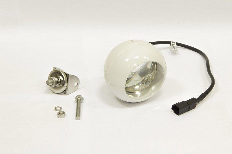 Фара дополнительная светодиодная круглая направленного света 20 Вт, 30 градусов (белая). (СТОКРАТ) 00497