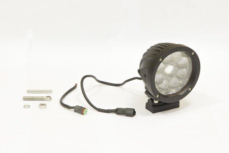 Фара дополнительная светодиодная круглая рабочего света 45 Вт, 90 градусов. (СТОКРАТ)