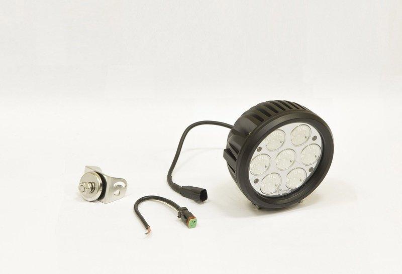 Фара дополнительная светодиодная круглая рабочего света 70 Вт, 60 градусов. (СТОКРАТ) 00502