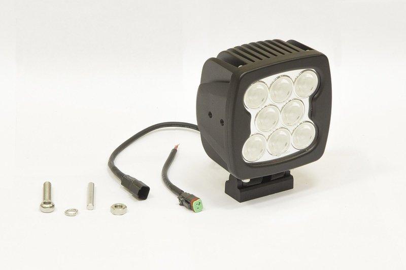 Фара дополнительная светодиодная квадратная рабочего света 80 Вт, 60 градусов. (СТОКРАТ) 00507