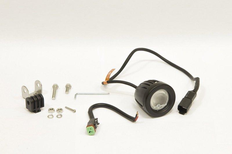 Фара дополнительная светодиодная круглая рабочего света 10 Вт, 90 градусов. (СТОКРАТ) 00509