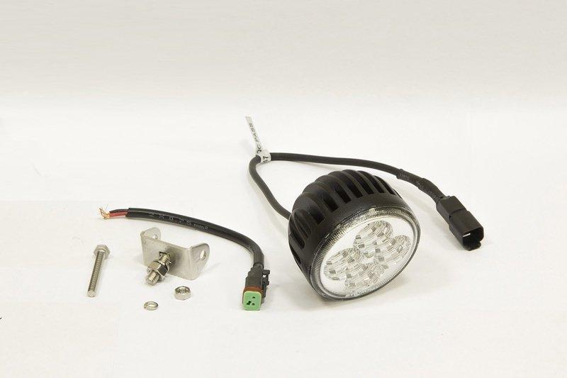 Фара дополнительная светодиодная круглая рабочего света 12 Вт, 60 градусов. (СТОКРАТ) 00514