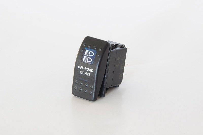 Клавишный выключатель с надписью OFF-ROAD LIGHTS Стократ 00531
