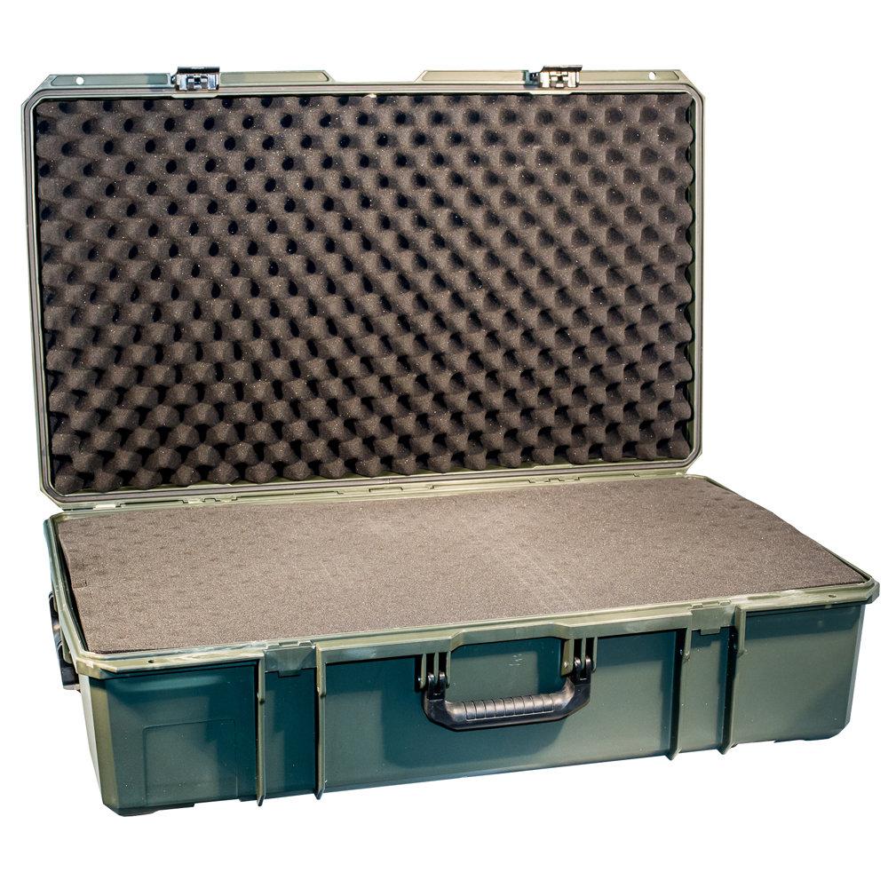 Кейс №9 противоударный PRO-4x4 ЗЕЛЕНЫЙ  (850x520x285мм) с поропластом 00557