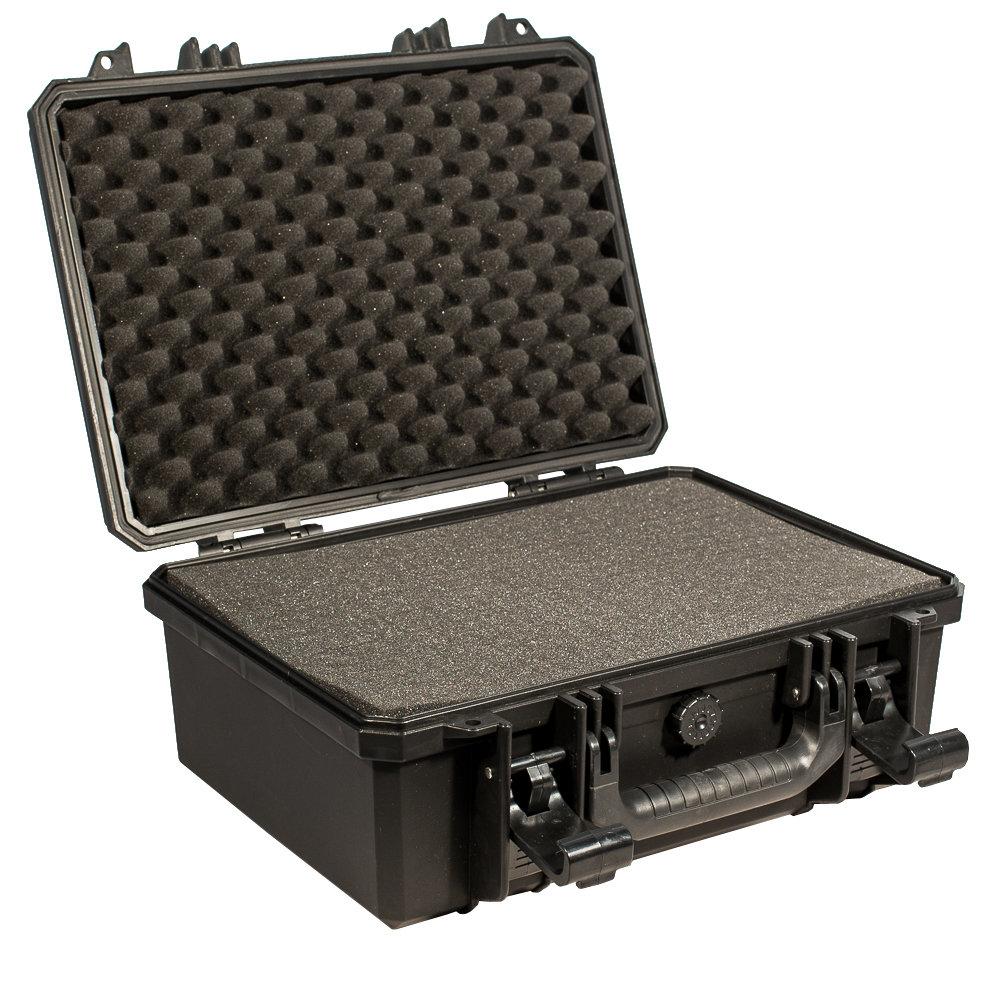 Кейс №3 противоударный PRO-4x4 ЧЕРНЫЙ (400x320x180мм) с поропластом 00565