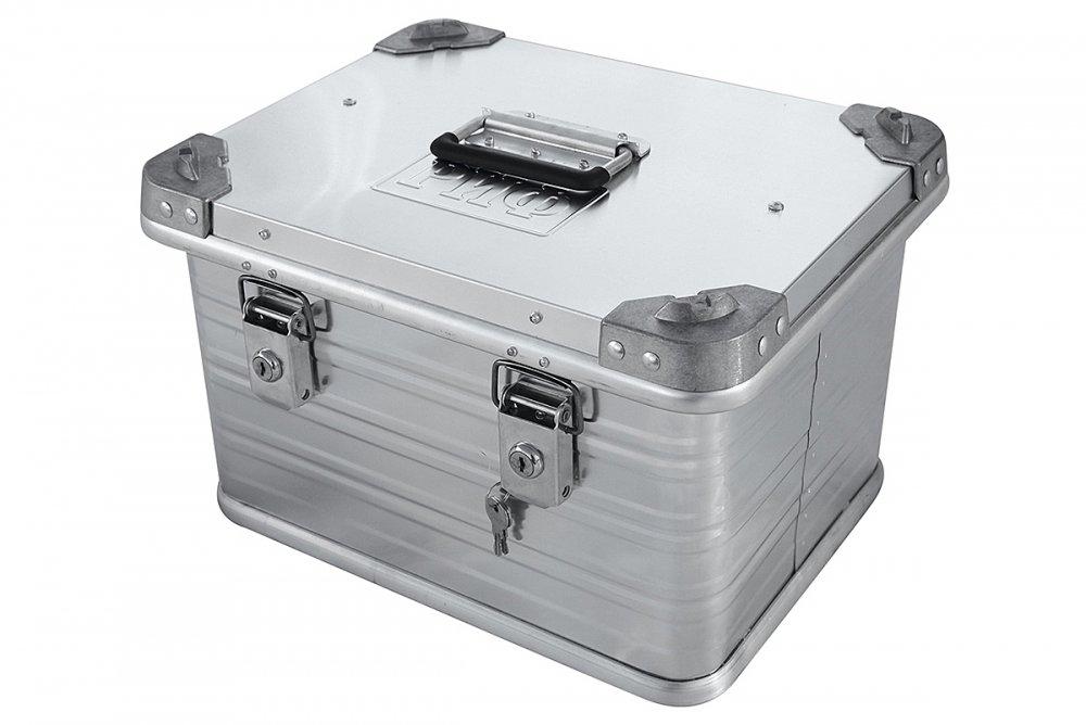 Ящик алюминиевый РИФ усиленный с замком 432х335х277 мм (ДхШхВ) 00614