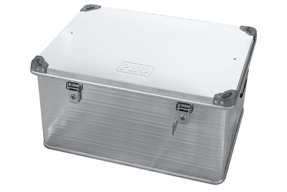 Ящик алюминиевый РИФ усиленный с замком 782х585х412 мм (ДхШхВ) 00619