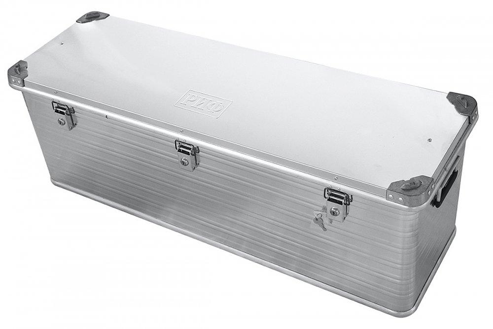 Ящик алюминиевый РИФ усиленный с замком 1176х385х412 мм (ДхШхВ) 00624