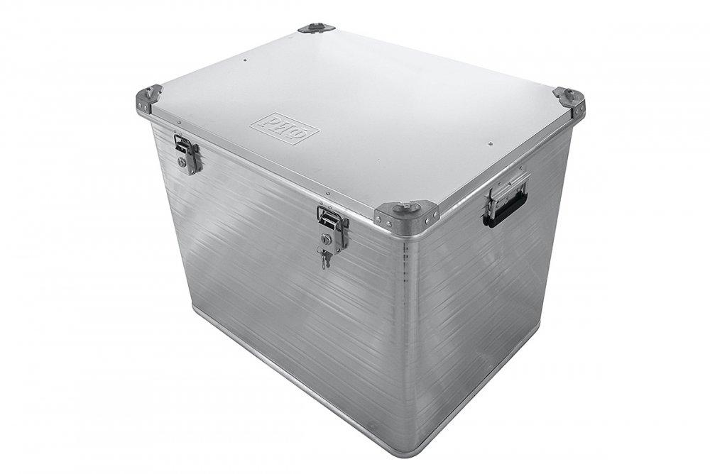 Ящик алюминиевый РИФ усиленный с замком 782х585х622 мм (ДхШхВ) 00627