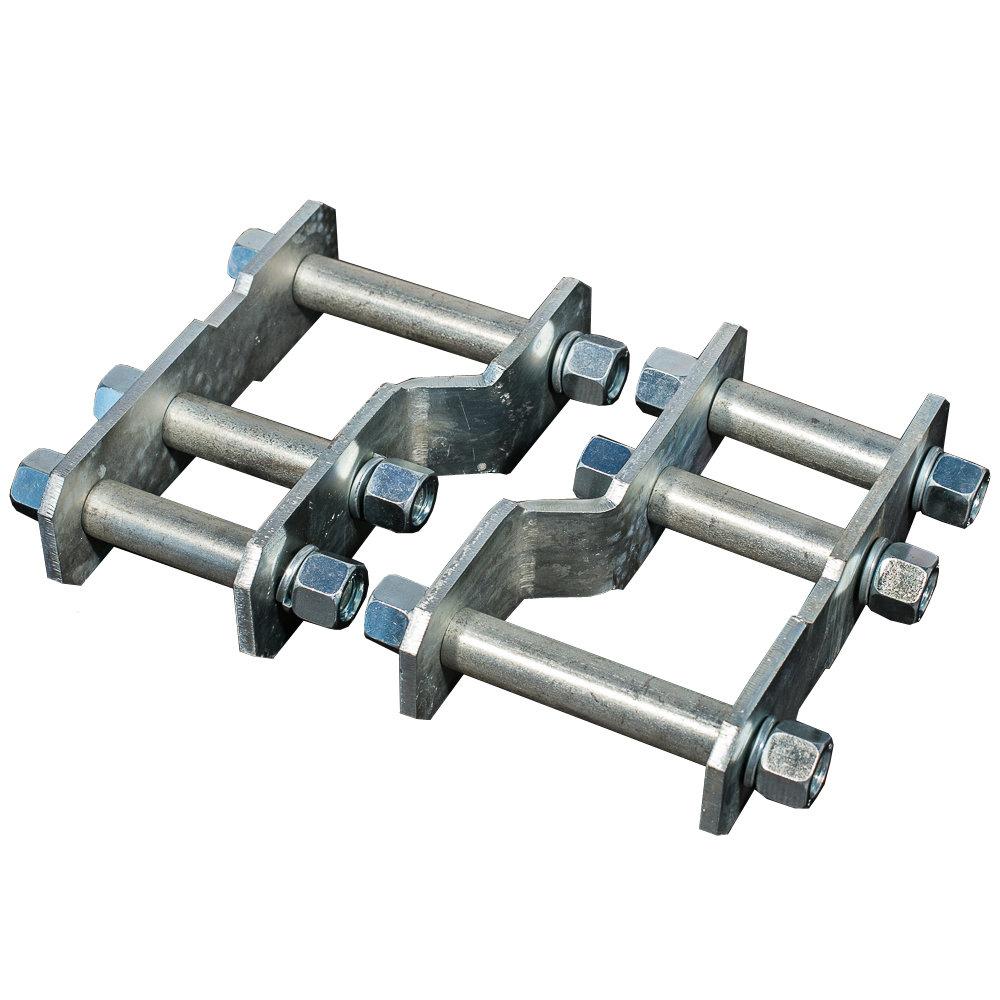 Серьги усиленные удлиненные на Nissan Navara D40 (лифт 4см) 2 шт.