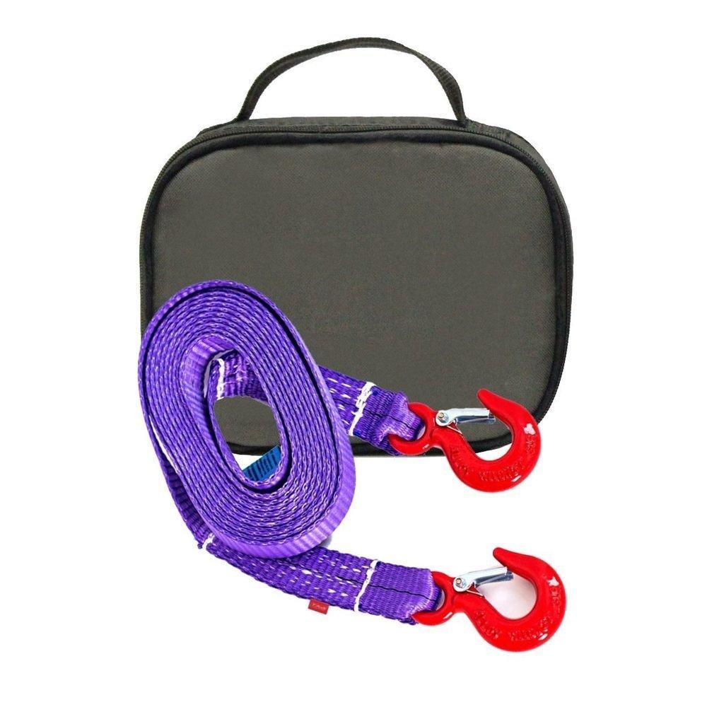 Буксировочный ремень Tplus 4/6 т 4.5 м (авто до 1.5 т) Крюк/Крюк + сумка