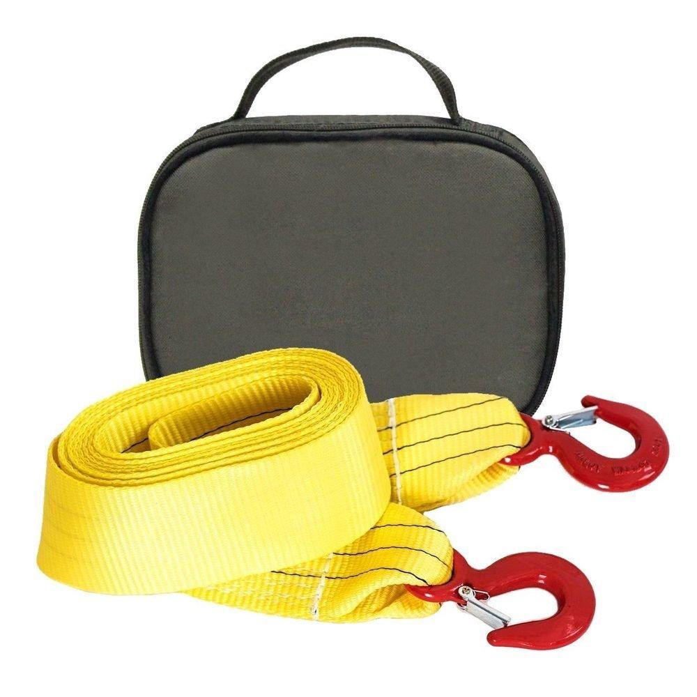 Буксировочный ремень Tplus 8/13 т 6 м (авто до 4.5 т) Крюк/Крюк + сумка