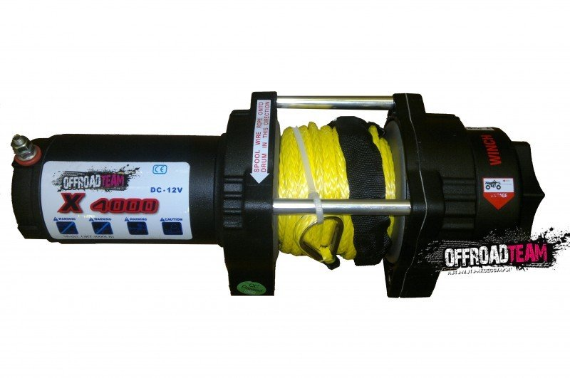 Лебедка для квадроцикла  ORT 4000 Lb/1818 кг, кевларовый трос 10м, 12 вольт.