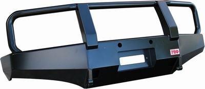 Бампер передний силовой для Nissan Navara D40/Pathfinder R51 РИФ с кенгурином