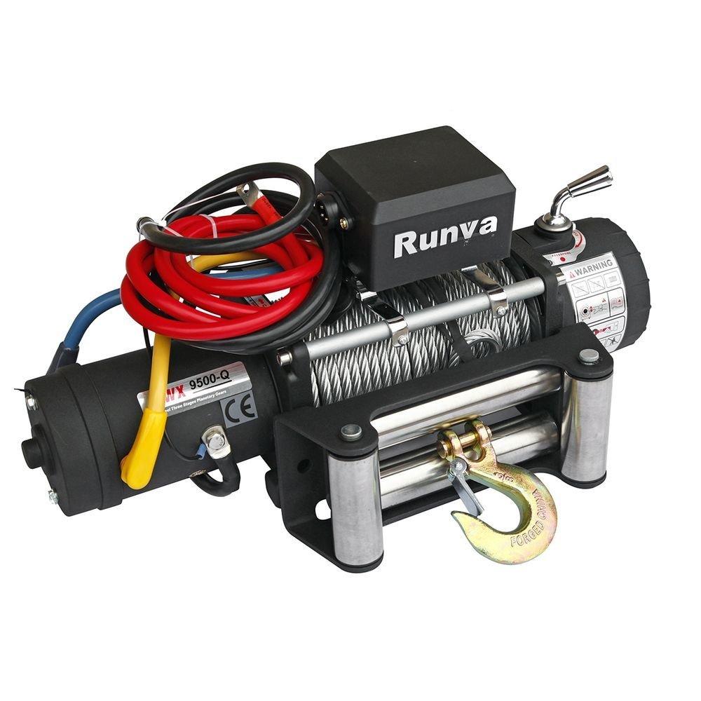 Лебёдка электрическая 12V Runva 9500 lbs (4350 кг) Спорт