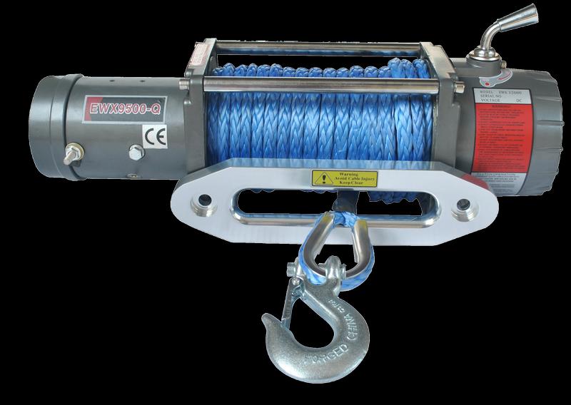 Лебёдка электрическая с синтетическим тросом 12V Runva 9500 lbs 4309кг