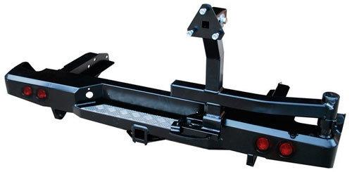 Бампер задний силовой с квадратом, калиткой и фонарями для Toyota Hilux 2010-2015