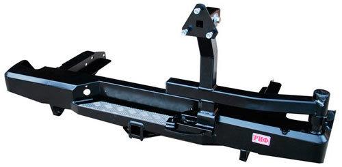 Бампер задний силовой с квадратом и калиткой для Toyota Hilux 2010-2015