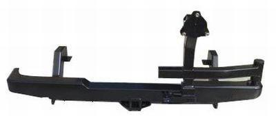 Бампер задний силовой с квадратом и калиткой РИФ Mazda B2500/BT50/Ford Ranger