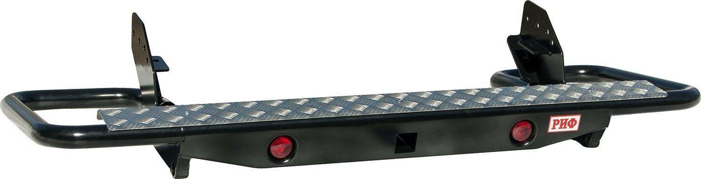 Бампер задний силовой с квадратом РИФ L200 NEW с фонарями (трубчатый)