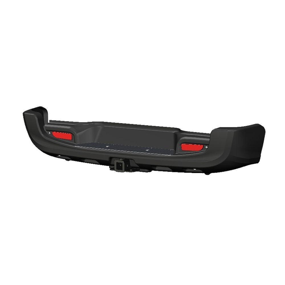 Бампер задний с квадратом под фаркоп Toyota Hilux 2015- (чёрный)