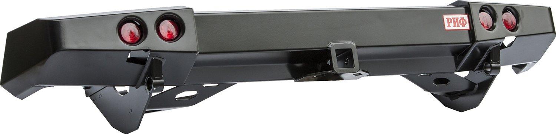 Бампер задний силовой с квадратом и фонарями для Mitsubishi Pajero Sport NEW РИФ
