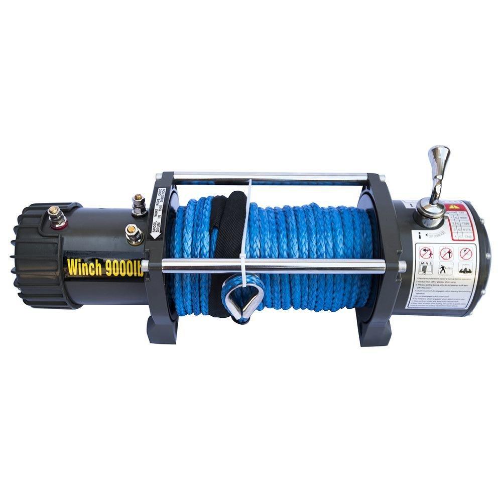 Лебёдка электрическая 12V CM9000S с синтетическим тросом