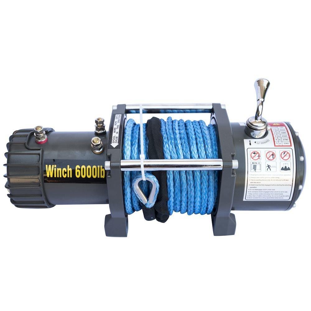 Лебедка электрическая 12V CM6000S с синтетическим тросом