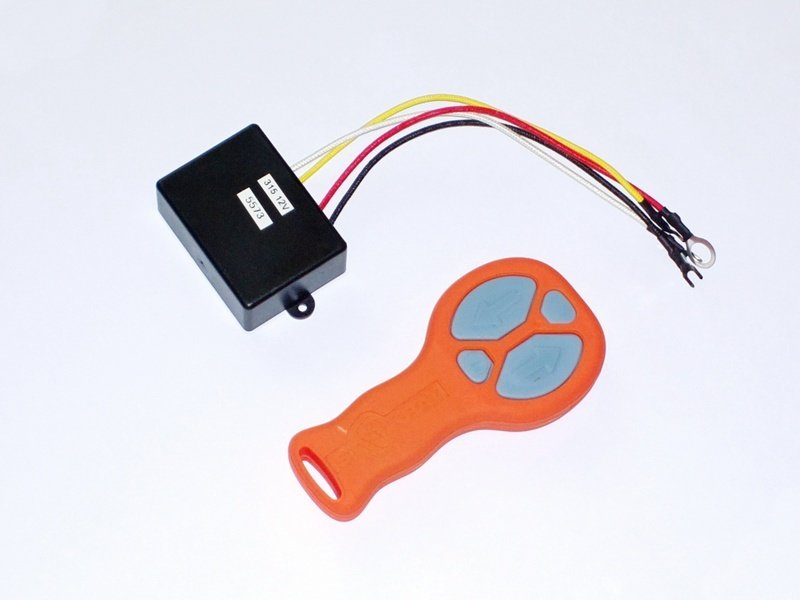 Комплект дистанционного беспроводного пульта управления для всех лебедок СТОКРАТ (оранжевый)